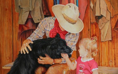 A Ranch Dog Howdy by Rich Boyd Art