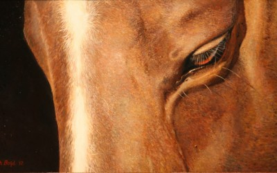 See Horse Seurat Style by Rich Boyd Art